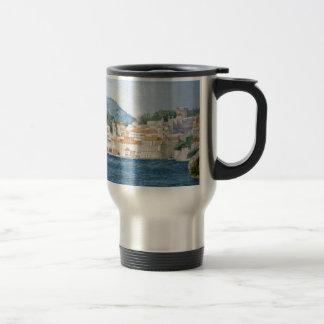 Mug De Voyage Panorama de paysage d'aquarelle de Monténégro