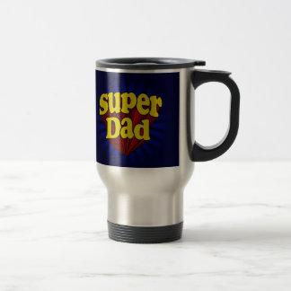 Mug De Voyage Papa superbe, super héros rouge/jaune/fête des