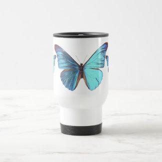 Mug De Voyage Papillon bleu assez iridescent