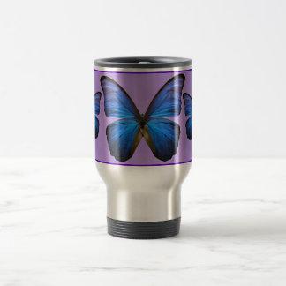 Mug De Voyage Papillon bleu magnifique de Morpho