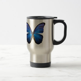 Mug De Voyage Papillon bleu rayonnant