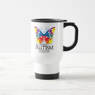 Mug De Voyage Papillon d'autisme