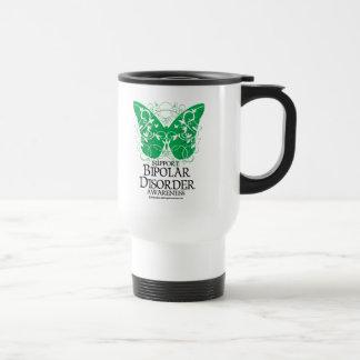 Mug De Voyage Papillon de trouble bipolaire