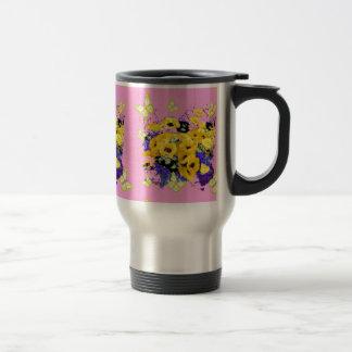 Mug De Voyage Papillon rose Girly jaune floral par Sharles