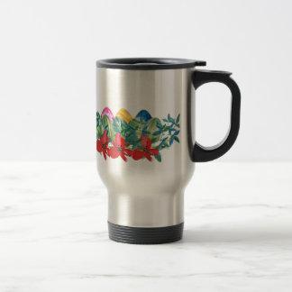 Mug De Voyage Pâques, fleur, oeufs, aquarelle