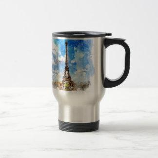 Mug De Voyage Paris, Tour Eiffel, aquarelle, élégante