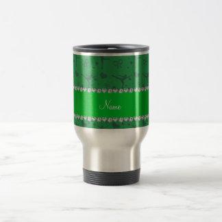 Mug De Voyage Patinage artistique vert nommé personnalisé