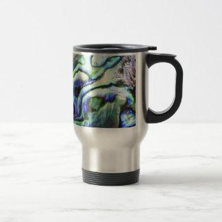 Mug De Voyage Paua vert-bleu de coquille d'ormeau