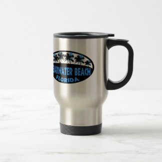 Mug De Voyage Paumes de la Floride de plage de Clearwater