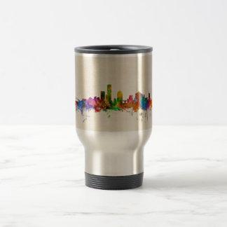 Mug De Voyage Paysage urbain d'horizon de Milwaukee le Wisconsin