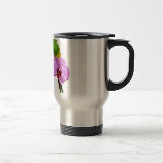Mug De Voyage Perruche avec l'orchidée pourpre