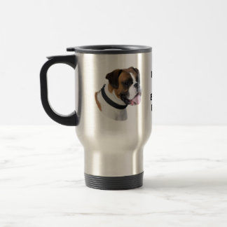 Mug De Voyage Photo de portrait de chien de boxeur