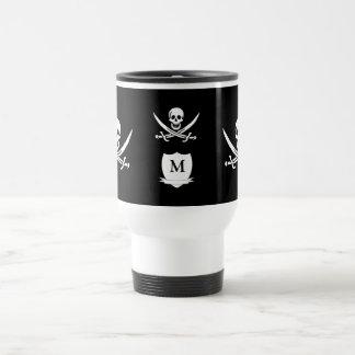Mug De Voyage Pirate et monogramme