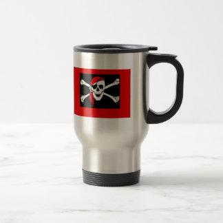 Mug De Voyage Pirates - noirs et crâne rouge de pirate