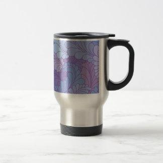 Mug De Voyage Plumes florales pourpres de Paisley de lavande