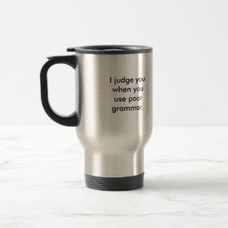 Mug De Voyage Police de grammaire