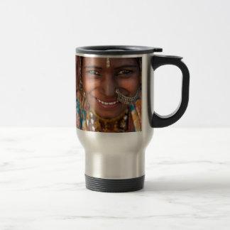 Mug De Voyage Portrait d'une femme de l'Inde Rajasthani
