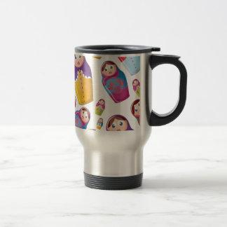 Mug De Voyage Poupée de Matryoshka - motif niché russe de
