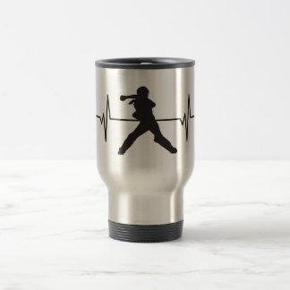 Mug De Voyage Receveur femelle du base-ball - graphique