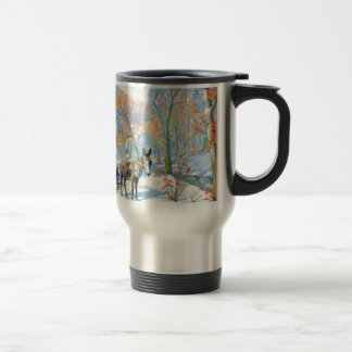 Mug De Voyage Récolte d'automne de l'impressionisme  