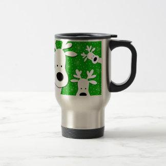 Mug De Voyage Renne de Noël - vert 2