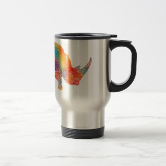Mug De Voyage Rhinocéros coloré