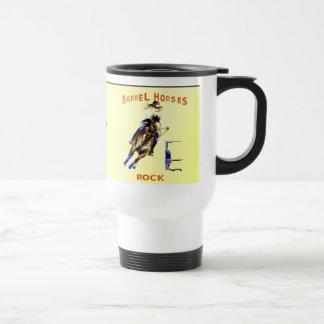 Mug De Voyage Roche de chevaux de baril