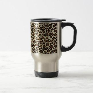 Mug De Voyage Rose élégant de léopard chic