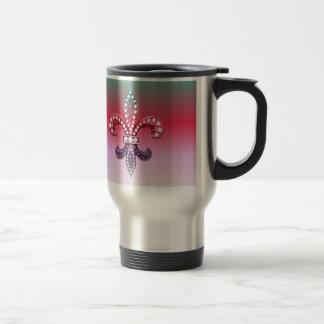 Mug De Voyage Rose multi de couleur de Fleur De Lis Flor la