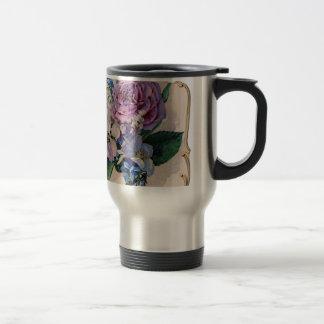 Mug De Voyage Roses pourpres vintages