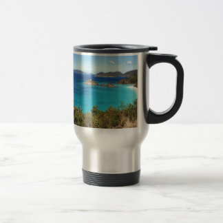 Mug De Voyage Scène d'île des Caraïbes
