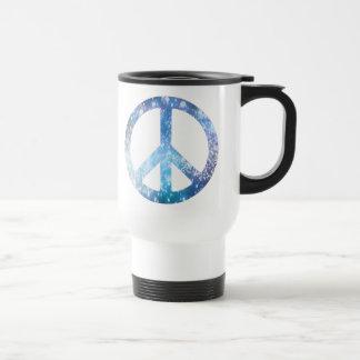 Mug De Voyage Signe de paix étoilé