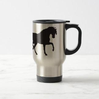 Mug De Voyage Silhouette de cheval - changez la couleur