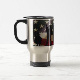 Mug De Voyage Silhouette militaire patriotique de soldats