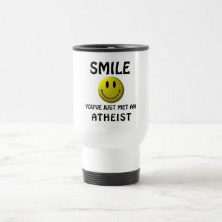 Mug De Voyage SOURIRE, vous avez juste rencontré un athée