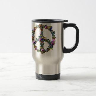 Mug De Voyage Symbole de paix de papillon