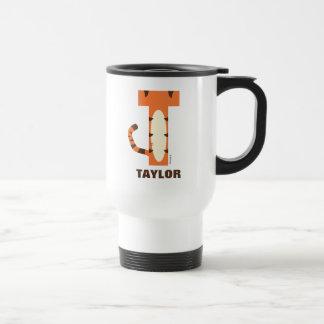 Mug De Voyage T est pour Tigger | ajoutent votre nom