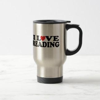 Mug De Voyage T-shirt mignon de lecture d'amour d'I