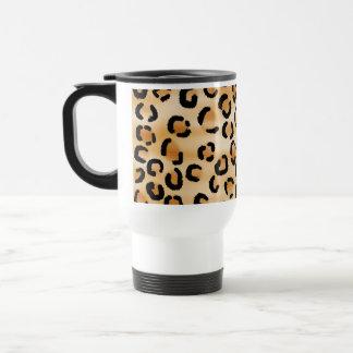 Mug De Voyage Tan, noir et modèle d'empreinte de léopard de