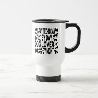 Mug De Voyage Technicien de rayon X d'amoureux des chiens