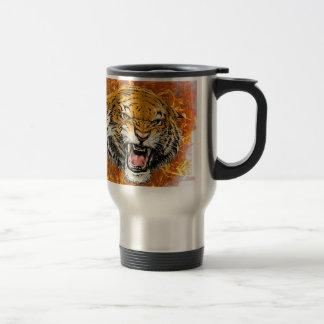Mug De Voyage tigre en flamme