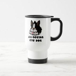 Mug De Voyage Tout-Voir le chien d'oeil