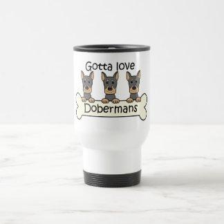 Mug De Voyage Trois dobermann