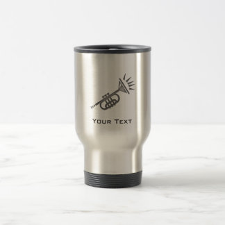 Mug De Voyage Trompette balayée de métal-regard
