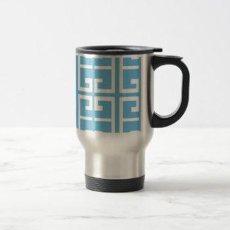 Mug De Voyage Tuile bleu-clair et blanche