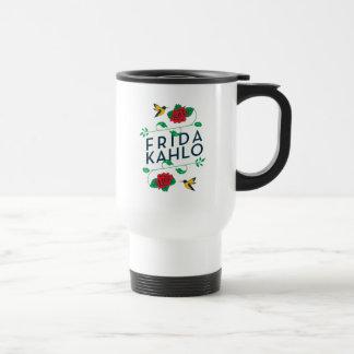 Mug De Voyage Typographie florale de Frida Kahlo |