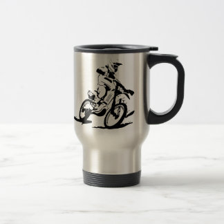 Mug De Voyage Vélo et cavalier simples de Motorcross