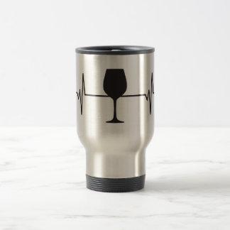 Mug De Voyage Verre de vin - impulsion de battement de coeur