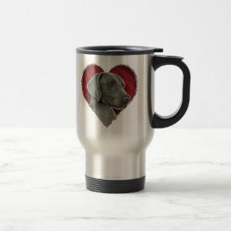 Mug De Voyage Weimaraner avec le coeur