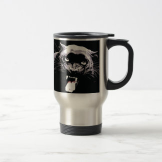 Mug De Voyage Yeux noirs et blancs de Jaguar